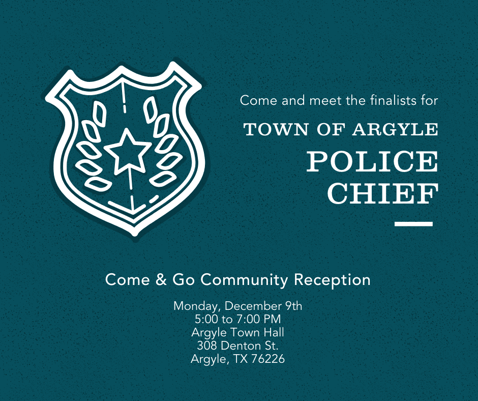 Town of Argyle Police Chief Reception