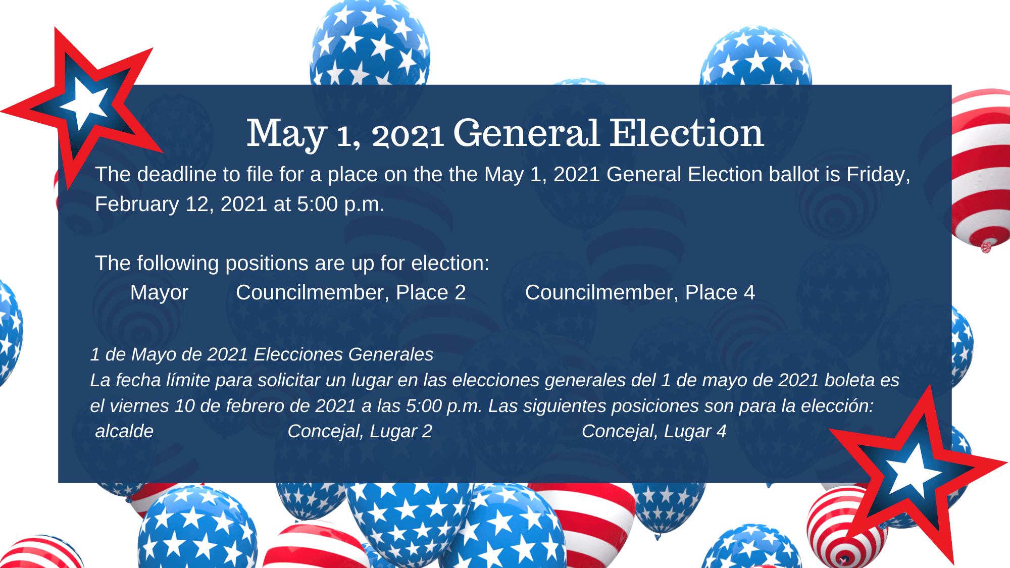 Graphic May 1, 2021 General Election
