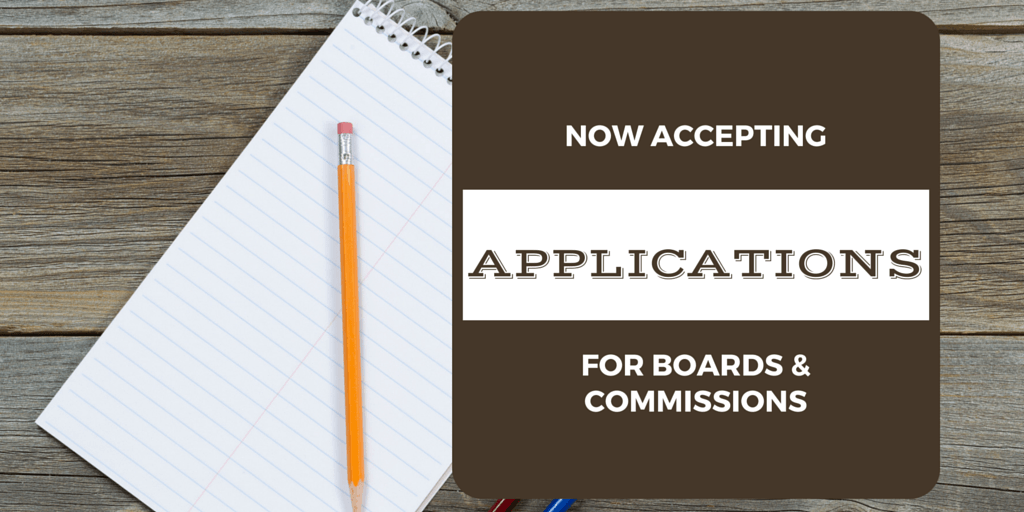 Accepting Board and Commission Applications