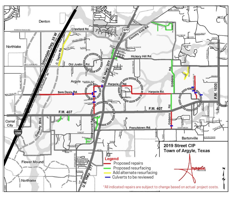 Draft 2019 Road CIP Project Map